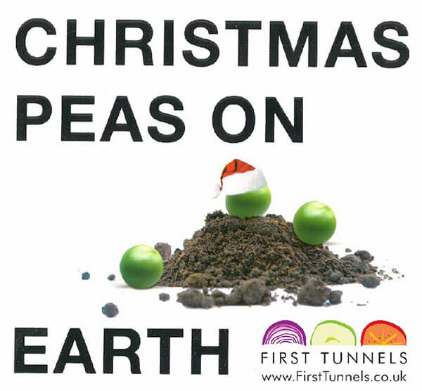 christmas peas on earth pun graphic