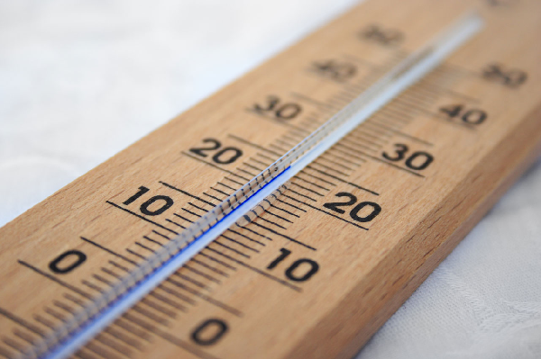 wooden outdoor thermometer