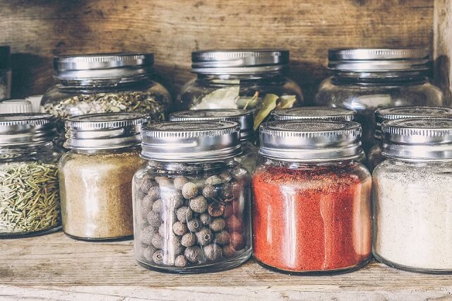 grains and pulses in jars