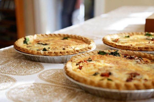 vegan open top pies for christmas dinner